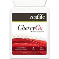 CHERRY-GO 2 x 60 Montmorency Cherry 550mg Supports joints | Muscle function | Helps to reduce inflammation | Supports healthy uric acid levels in the body, Healthy cardiovascular function | Promotes heart health | The benefits of this Superb Supplement are endless!