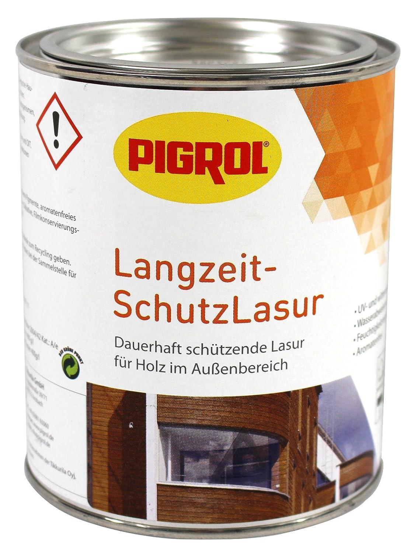 Pigrol Langzeit-Schutzlasur 2, 5L palisander Holzlasur fü r alle Hö lzer im Auß enbereich