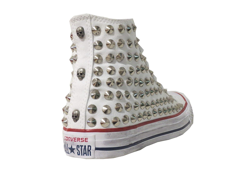 4d98f2dc423 Converse all Star Borchie Borchiate Teschi Bianco Optical White(Prodotto  Artigianale): Amazon.it: Scarpe e borse
