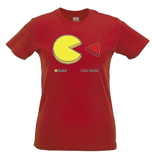 Gioco divertente T-Shirt Da Donna I giocatori Versus non Pie Chart