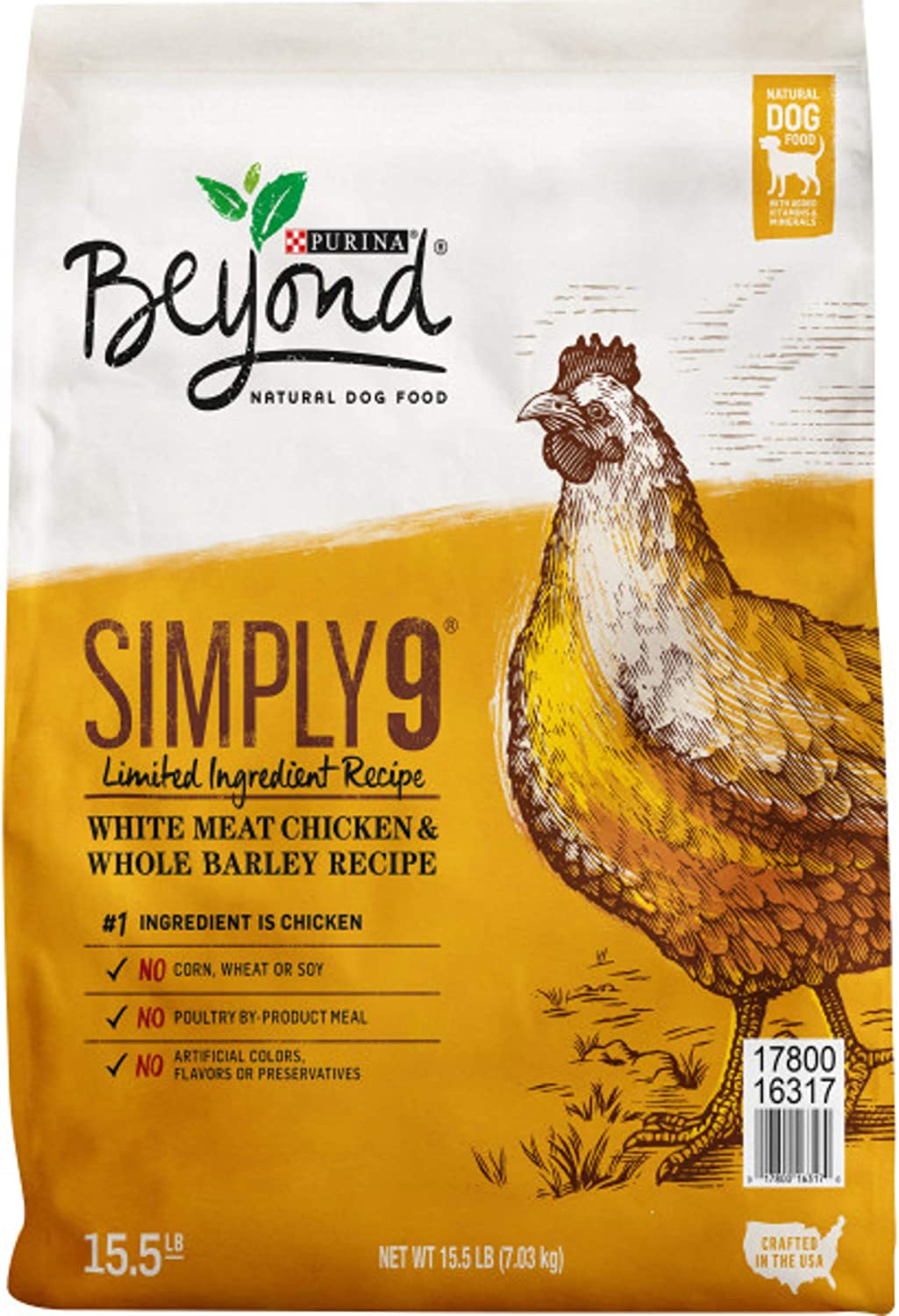 Purina Beyond Simply 9, Dog Food, Chicken & Whole Barley