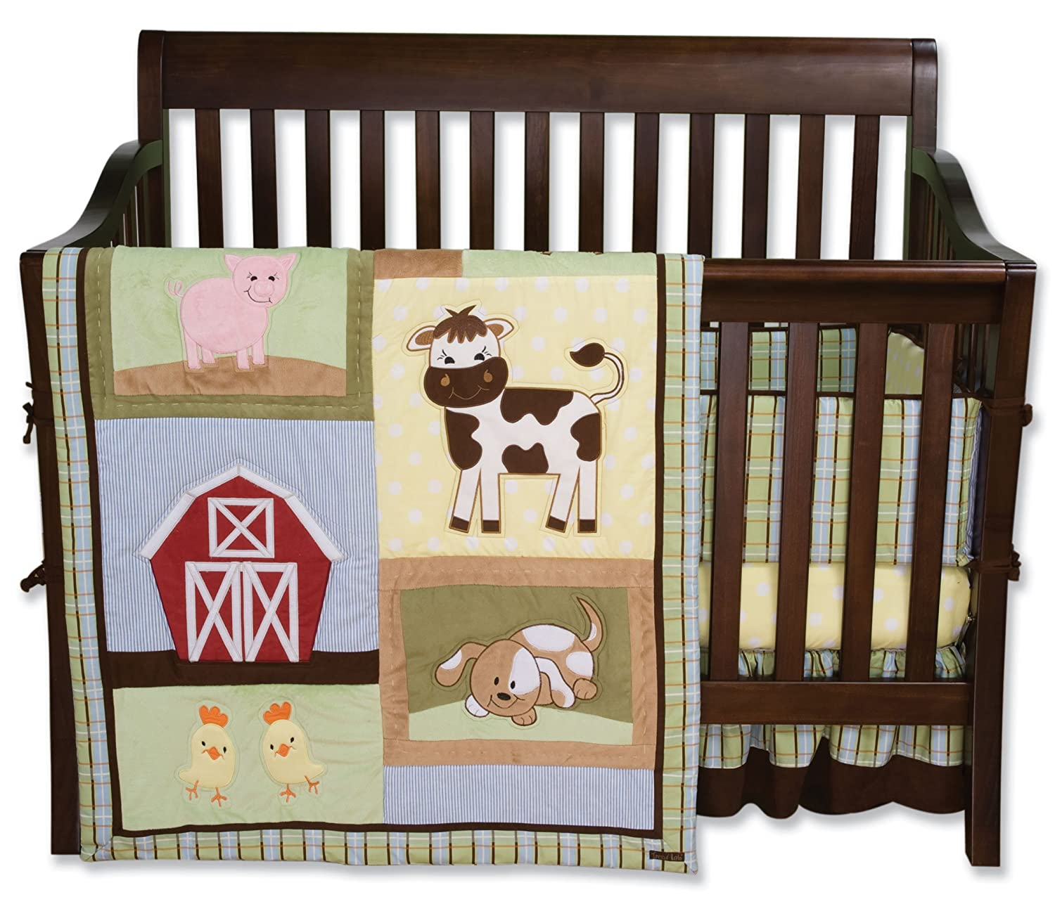 amazoncom trend lab 4 piece crib bedding set baby barnyard farm bedding baby