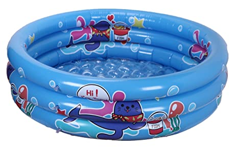 WenYing Inflatable Swimming Pool For Kids 120CM Kiddie Bathtub Children 3 Ring