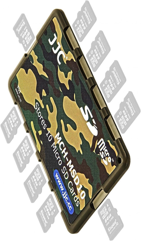 Farbe Flecktarn Impulsfoto JJC extrem Kompaktes Speicherkartenetui Aufbewahrungsbox im Kreditkarten-Format Fuer 10 x MicroSD