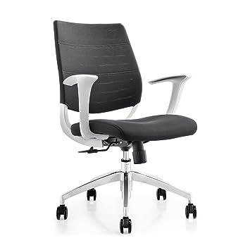 Amazoncom Topsit Modern Office Furniture White Mid Back Mesh