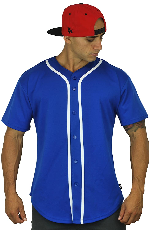 ベースボール ジャージーTシャツ プレーン ボタンダウン スポーツT B01GF0L0RU Medium|ロイヤルブルー ロイヤルブルー Medium