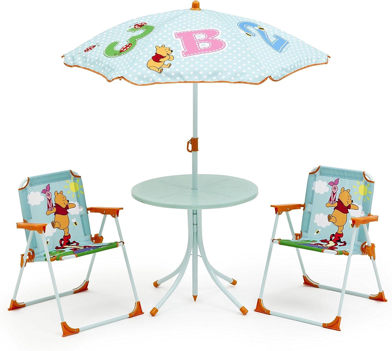 Mesa de jardín muebles de jardín mesa sillas infantil, sombrilla ...