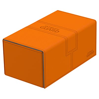 Ultimate Guard UGD010779 Twin Flip N Tray Xenoskin 200 Deck Box, Orange: Toys & Games