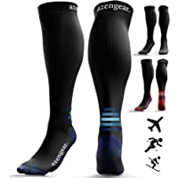 Compression Socks for Women & Men (20-30 mmHg) Best for Flight Travel, Running, Skiing, Athletics, Nurses, Shin Splints, Pregnancy & Improved Blood Circulation