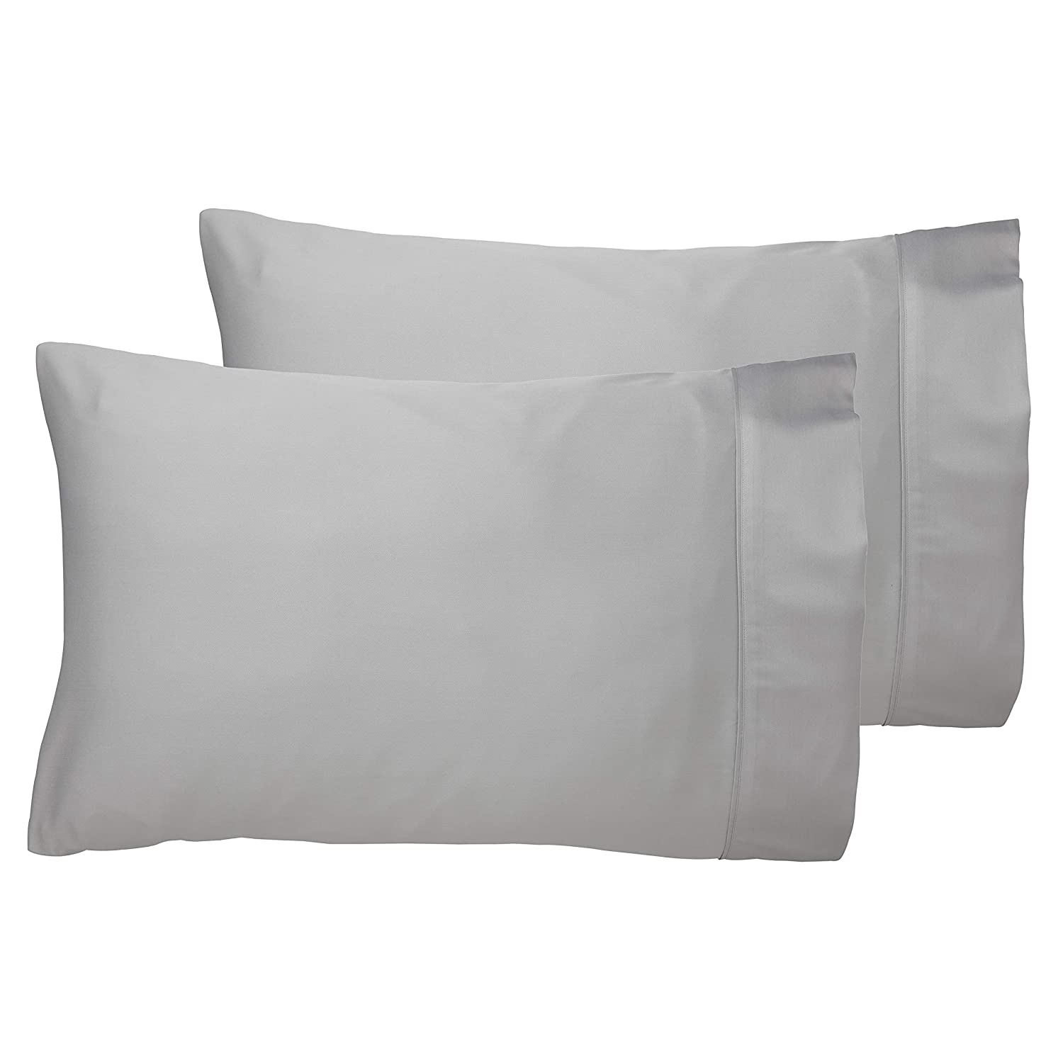100% Bamboo Bed Linen - Luxury Pillowcases - Housewife Style (Set of 2) (Natural White) All Bamboo