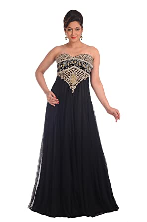 4792875b6b Fustan Dress with Exclusive Hand Made Embroidery Design 4946 Black   Amazon.co.uk  Clothing