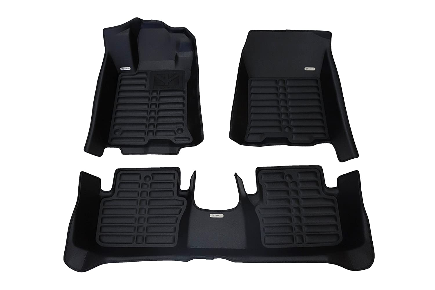 TuxMat Custom Car Floor Mats for Acura TLX FWD 2015-2019 Models - Laser Measured, Largest Coverage, Waterproof, All Weather. The Ultimate Winter Mats, Also Look Great in the Summer. The Best Acura TLX Accessory. (Full Set - Black)