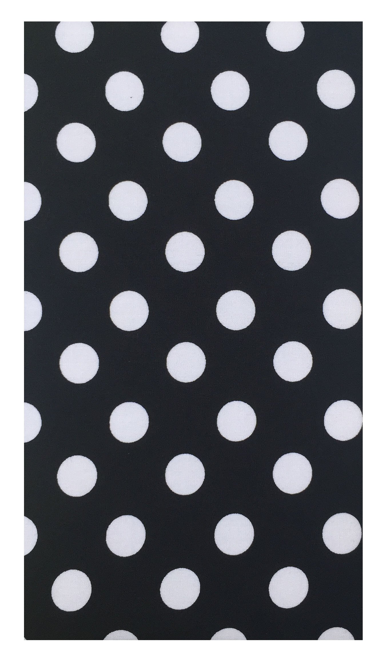 Home & Kitchen Black & White Polka Dot Cotton Guest Check Presenter, Check Book Holder for Restaurant, Checkbook Cover, Check Pad Holder, Waitstaff Organizer, Server Book for Waiters (With Plastic Cover)
