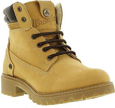 23484a877 Wrangler Creek Fur Womens Ankle Boots (UK 8 / EU 41, Tan Yellow ...