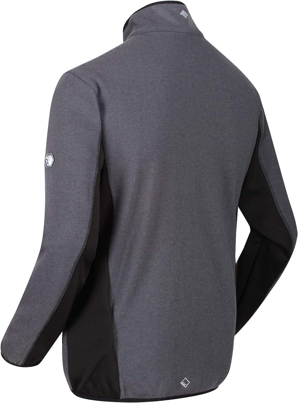 Regatta Mens Kestor Wool Full-zip Knit Effect Extol Stretch Fleece