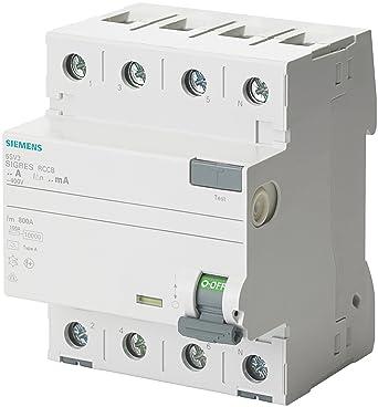 Siemens FI-Schutzschalter 5SV3344-6 40A 3+N-pol. 30mA 400V 4TE ...
