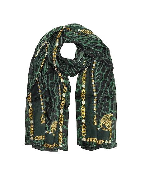 negozio online 1ed47 87d6c Roberto Cavalli Sciarpa Donna C3802i820847 Seta Verde ...