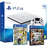 PS4 Slim 500Gb Blanca Playstation 4 Consola - Pack 2 Juegos - FIFA 18 + Call of Duty WW2: Amazon.es: Informática
