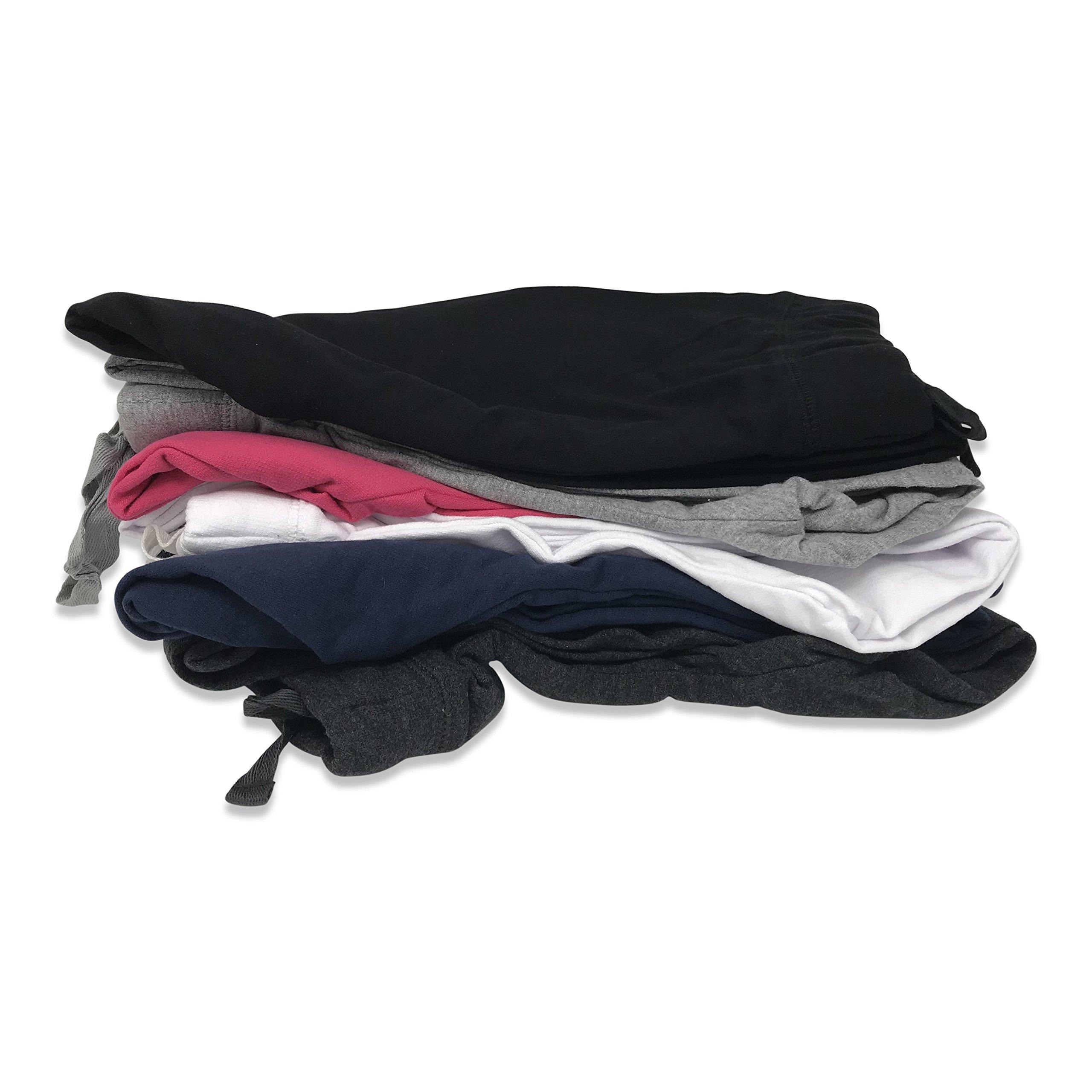 Sexy Basics Women's 2 Pack Yoga Activewear Jogger Capri Cropped Sweat Lounge Pants (2 Pack- Navy/Charcoal, Large) by Sexy Basics (Image #6)