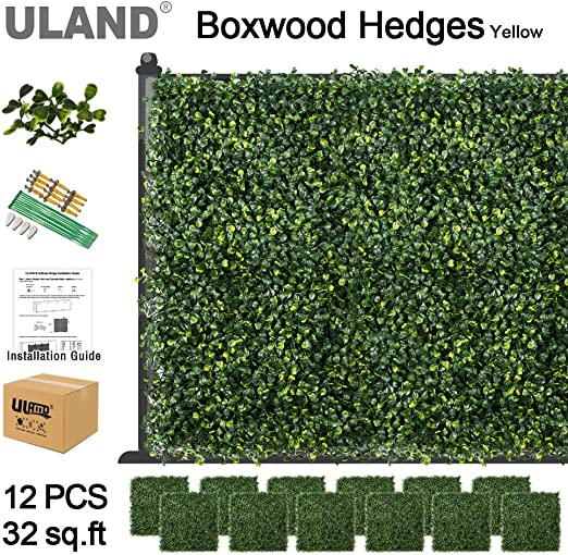 Amazon Com Uland Artificial Boxwood Hedges Mat Faux Grass