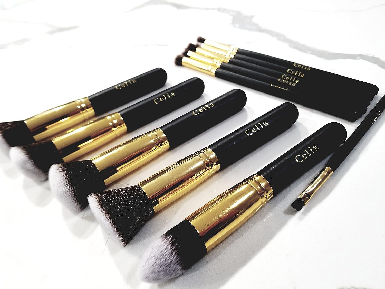 Amazoncom Professional Makeup Brush Set 11 Pieces By Celia Beauty
