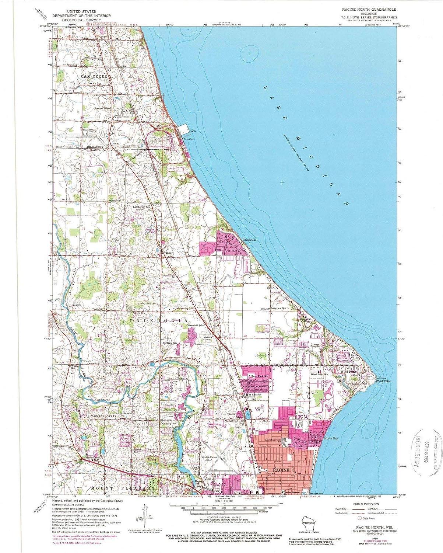 Racine Wisconsin Map.Amazon Com Wisconsin Maps 1958 Racine North Wi Usgs Historical