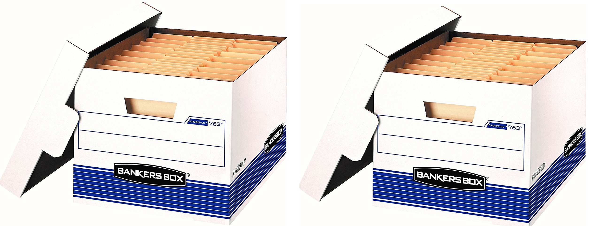 Bankers Box Stor/File Medium-Duty Storage Boxes with Lift-Off Lid, Letter/Legal, 20 Pack (0076315) (40 Boxes)