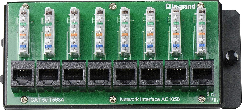 Structured Wiring 8 Port 110 Idc Data Network Interface Module