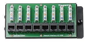 "On-Q AC1058 8-Port Cat 5e Network Interface Module, 1.5"" x 6.41"" x 2.9"", Green"
