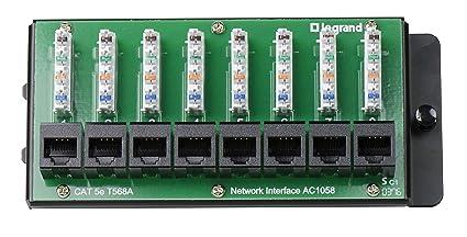 "legrand-on-q ac1058 8-port cat 5e network interface module 1 5"""