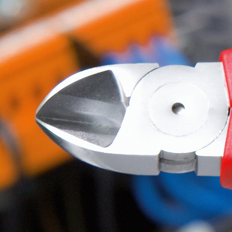 KNIPEX 70 05 180 Seitenschneider, präzises Schneiden bis Ø 4,0 mm, verchromt, 180 mm