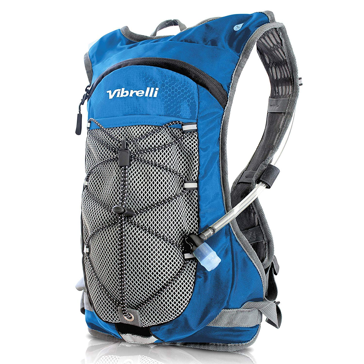 Vibrelli Hydration Backpack & 2L Hydration Bladder - High Flow Bite Valve - Hydration Pack for Cycling, Running, Hiking by Vibrelli