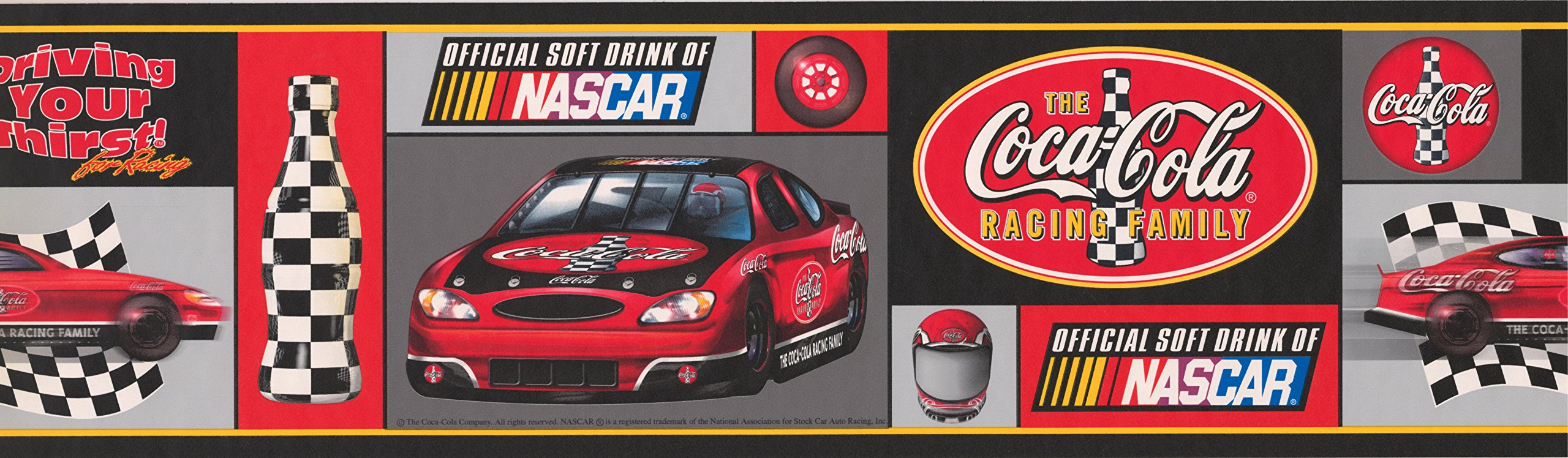 Coca-cola Nascar Wallpaper Border