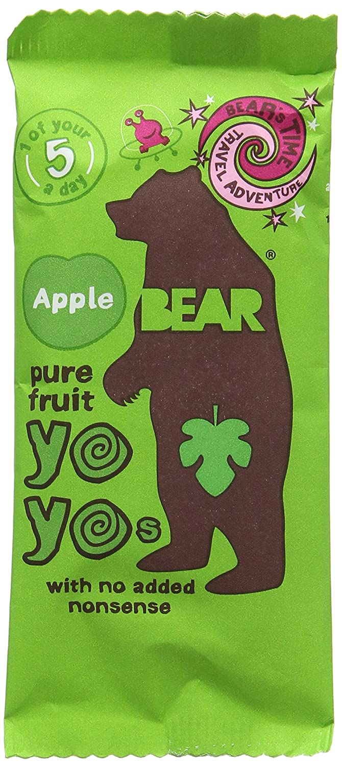 Bear Yoyo Blackcurrant Fruit Rolls 20 g (Pack of 18)