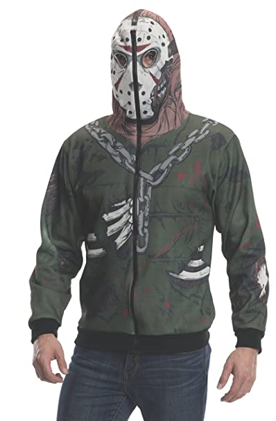 Rubies Costume Mens Friday The 13Th Jason Adult Costume Hoodie