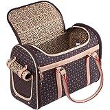 ペットキャリー ショルダーバッグ 小型犬 犬うさぎキャリー 折り畳み式 トートバッグ ファッション ペットキャリー (ブラウン)