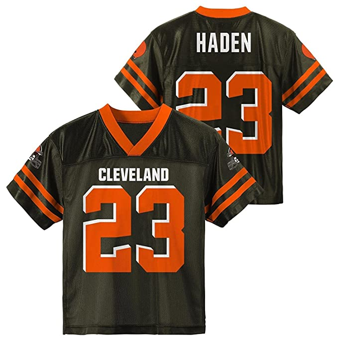 reputable site e51a8 2a80f Amazon.com: Joe Haden Cleveland Browns Brown Youth Player ...