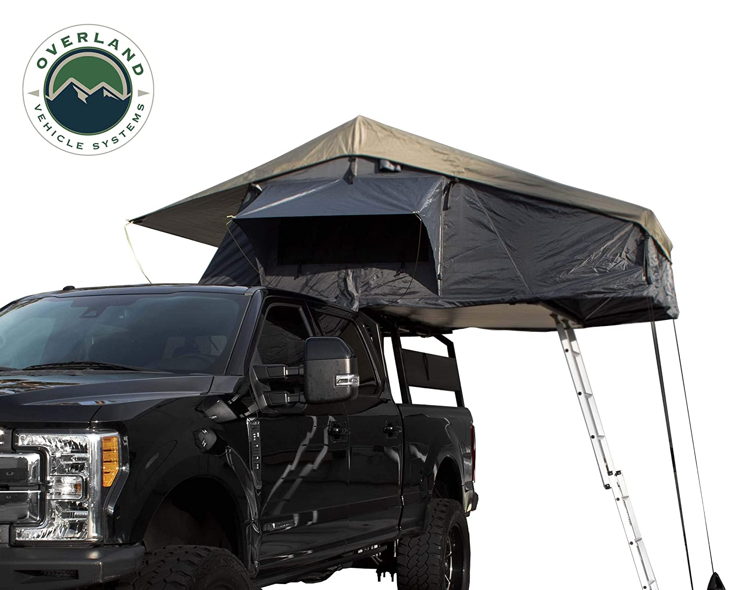 Dark Gray Base with Green Rain Fly /& Black Cover Universal Overland Vehicle Systems Nomadic 4 Extended Roof Top Tent