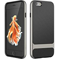 JETech Case for Apple iPhone 6 and iPhone 6s, Slim Protective Cover with Shock-Absorption, Carbon Fiber Design, Grey