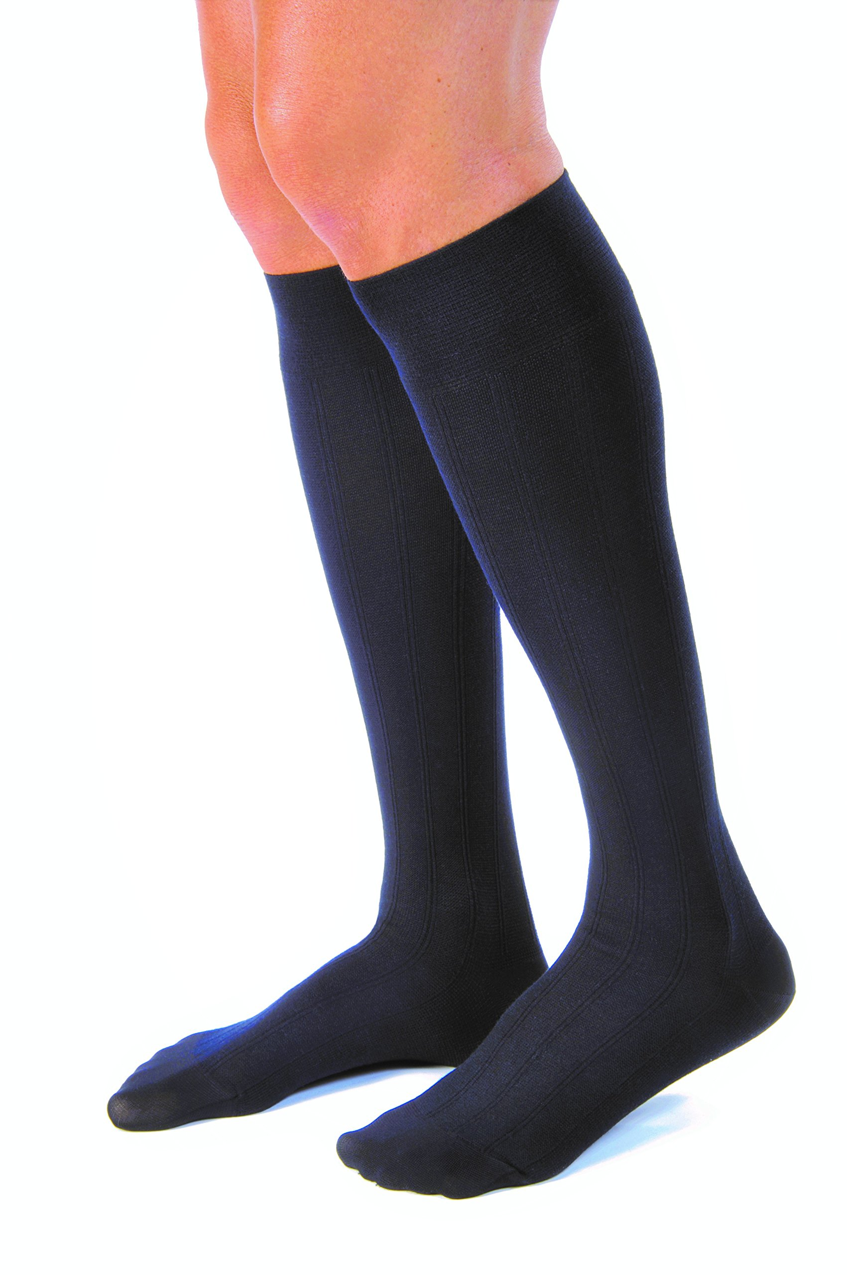 JOBST forMen Casual 20-30 mmHg Knee High Compression Socks, Navy, X-Large by JOBST