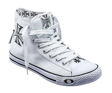 198be53a4a WEST COAST CHOPPERS Schuhe Warrior Hi Tops, Farbe:White, Größe:45 ...