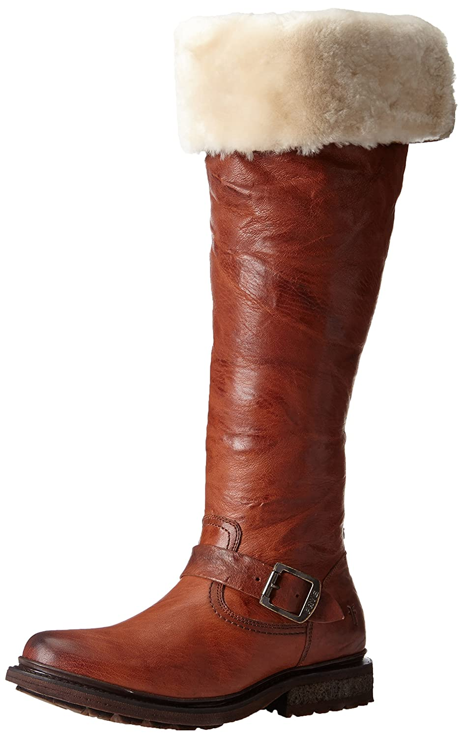 eaaf5535333 Details about FRYE Women s Valerie Shearling Over-The-Knee Riding Boot