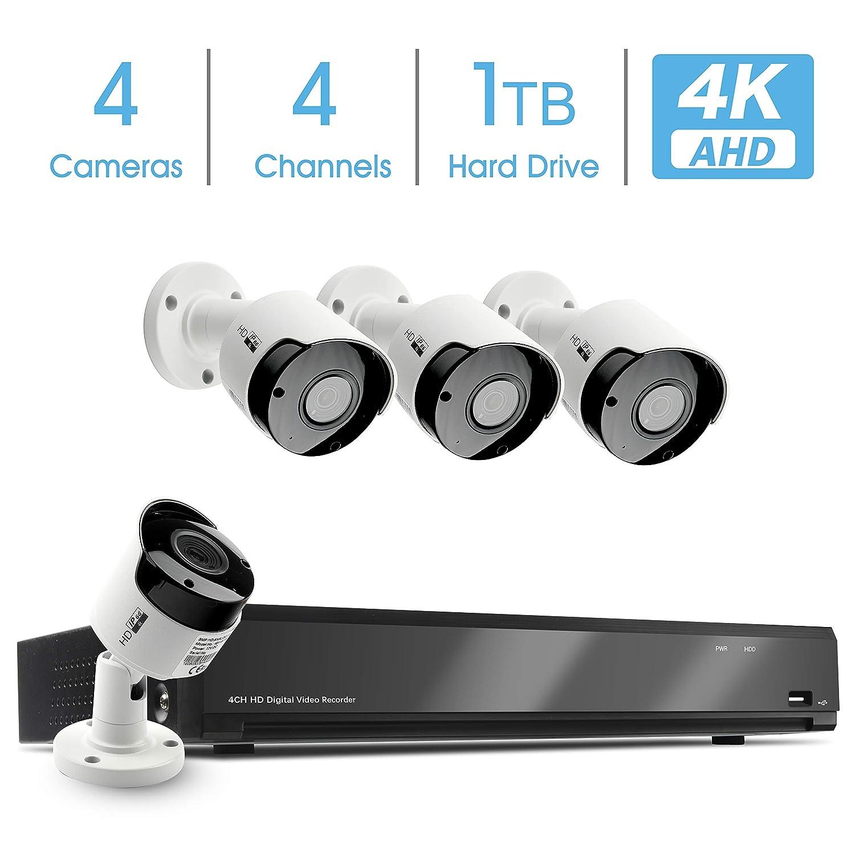 Amazon com : 4K AHD DVR Kit, 4K AHD Security Camera System