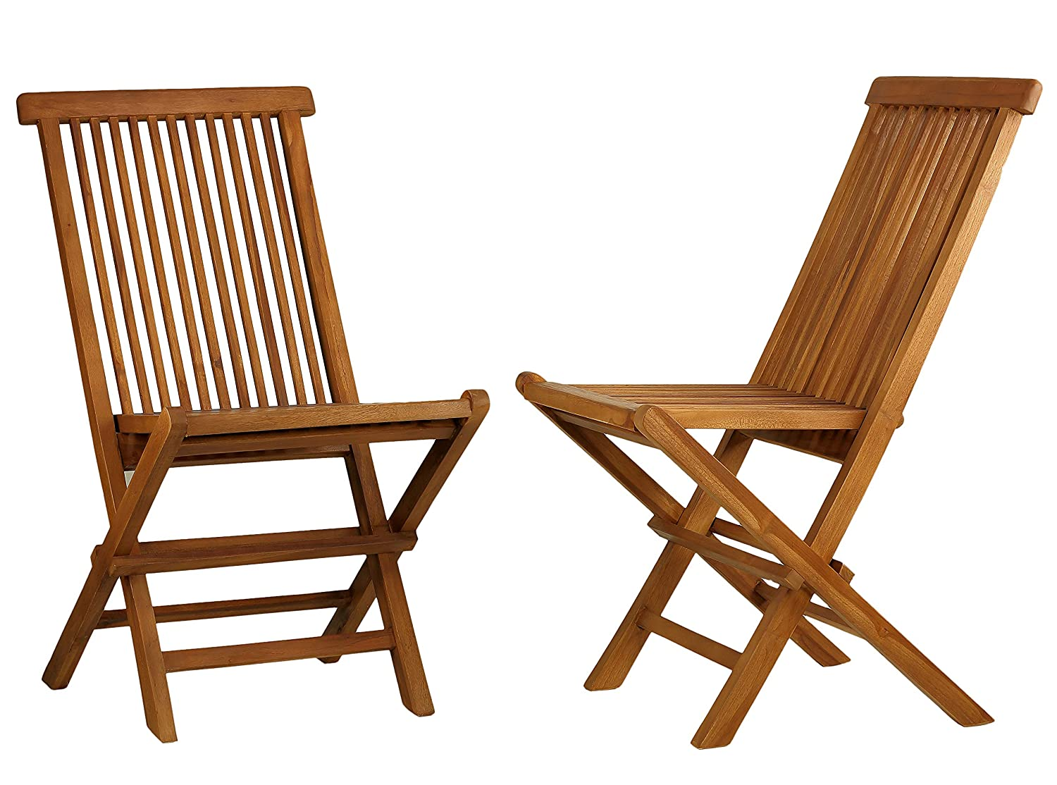 Bare Decor BARE-DC1021 Vega Outdoor Folding Chair, Set of 2, Teak