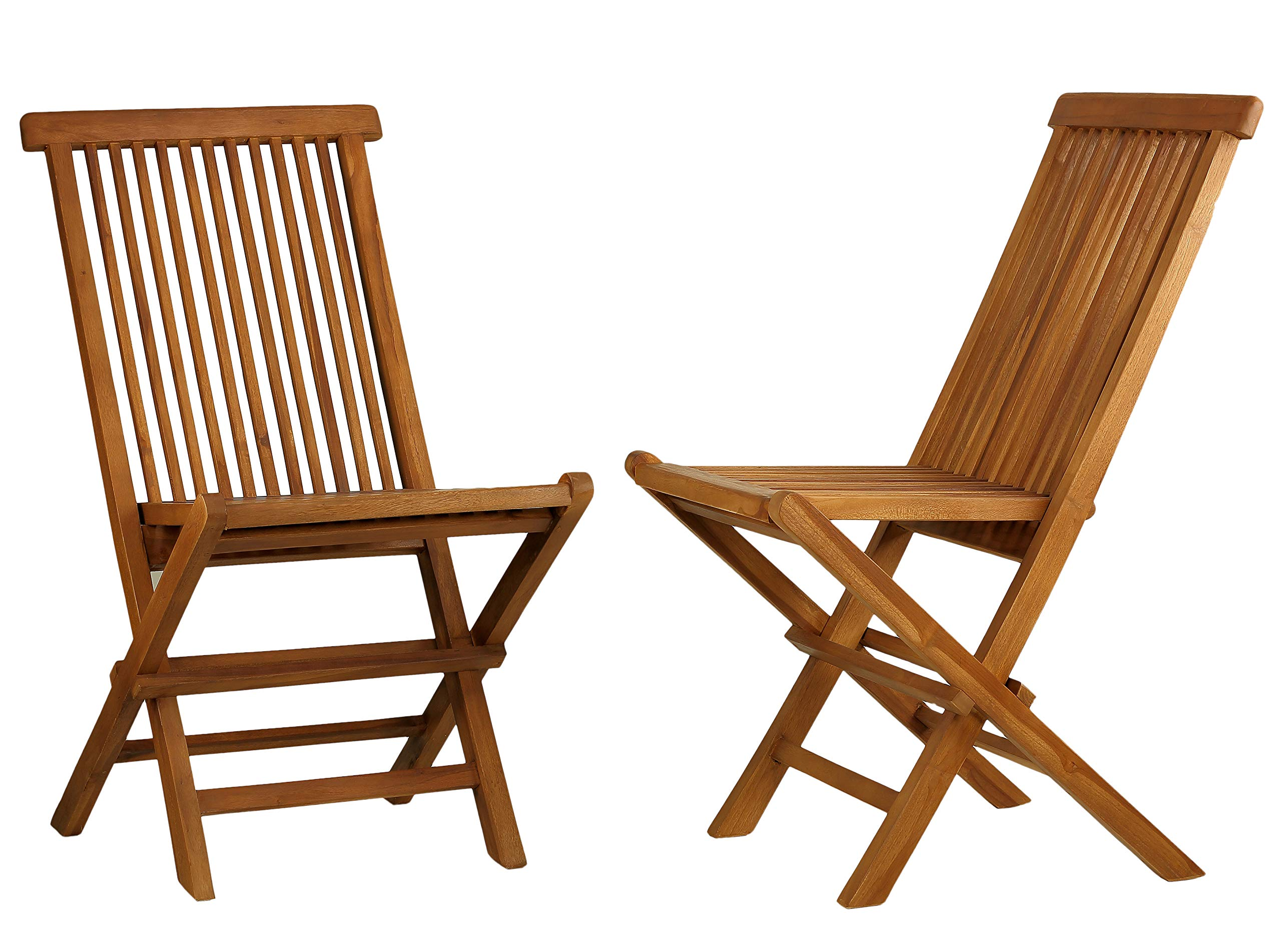 Bare Decor BARE-DC1021 Vega Outdoor Folding Chair, Set of 2, Teak by Bare Decor