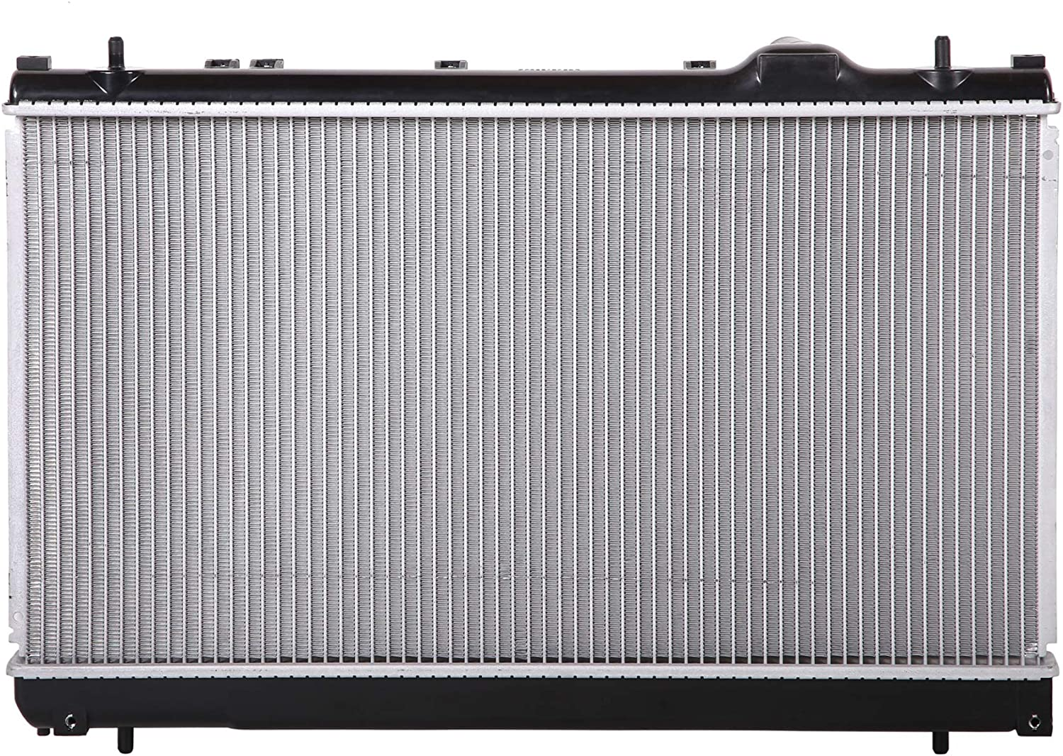 Lynol Cooling System Complete Aluminum Radiator Direct Replacement Compatible With 2002-2004 Dodge Neon 4 Speed Transmission With Dual Cooling Fan Type 4 Cylinder 2.0L