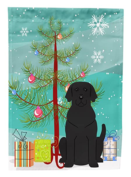 carolines treasures bb4182gf merry christmas tree black labrador garden size flag small multicolor - Labrador Outdoor Christmas Decoration