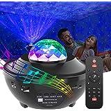 GeMoor Star Projector Night Light Projector Ocean Wave Projector Night Light Projector with Bluetooth Music Speaker for…