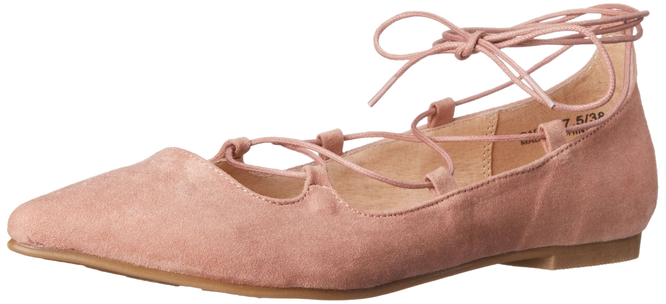 Chinese Laundry Women's Endless Summer Ghillie Flat, Rose Suede,  8 M US