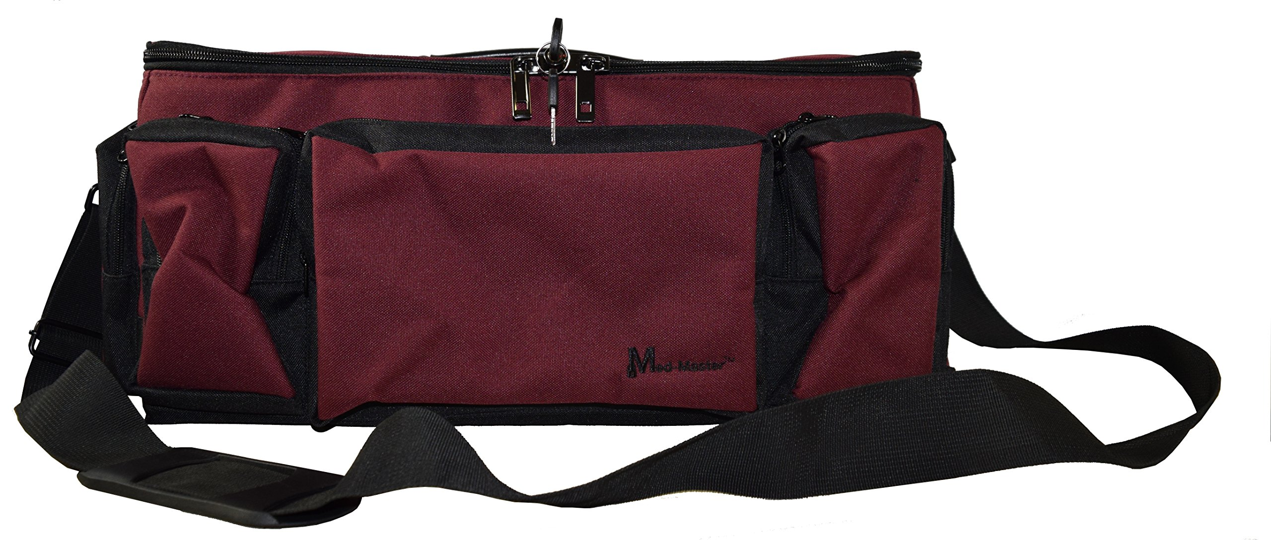 Med-Master Locking Medication Transport Bag, Burgundy (221800017) by STEELMASTER